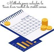 Méthode pour calculer le taux d'un rachat de crédit conso