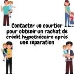 Contacter un courtier pour obtenir un rachat de crédit hypothécaire après une séparation