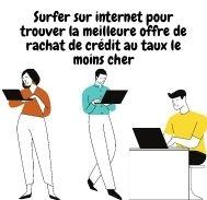 Surfer sur internet pour trouver la meilleure offre de rachat de crédit au taux le moins cher